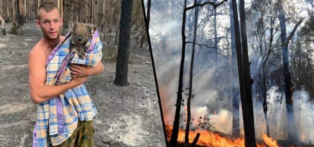 Jovem Enfrenta Incêndios na Austrália e Já Salvou Nove Coalas