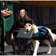 Cachorro que Acompanhou uma Jovem na Faculdade se Formou com Honraria