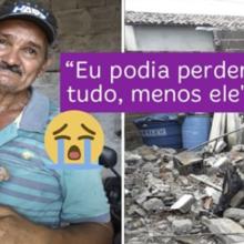 Pedreiro que perdeu casa em incêndio se emociona ao reencontrar seu cão