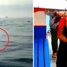 Após dias de angústia, ele descobre que um grupo de pescadores resgatou seu cachorro no mar