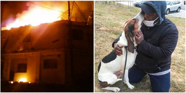 Após passar 4 meses em coma devido a uma explosão, ele se reencontra com seu cachorro e não segura a emoção.