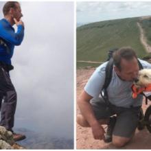 Homem leva seu cachorro com câncer para uma última caminhada nas montanhas para uma despedida