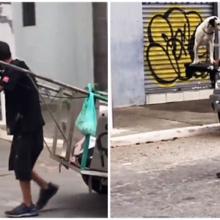 Catador de recicláveis dá um show com o seu cãozinho num momento de amor e companheirismo